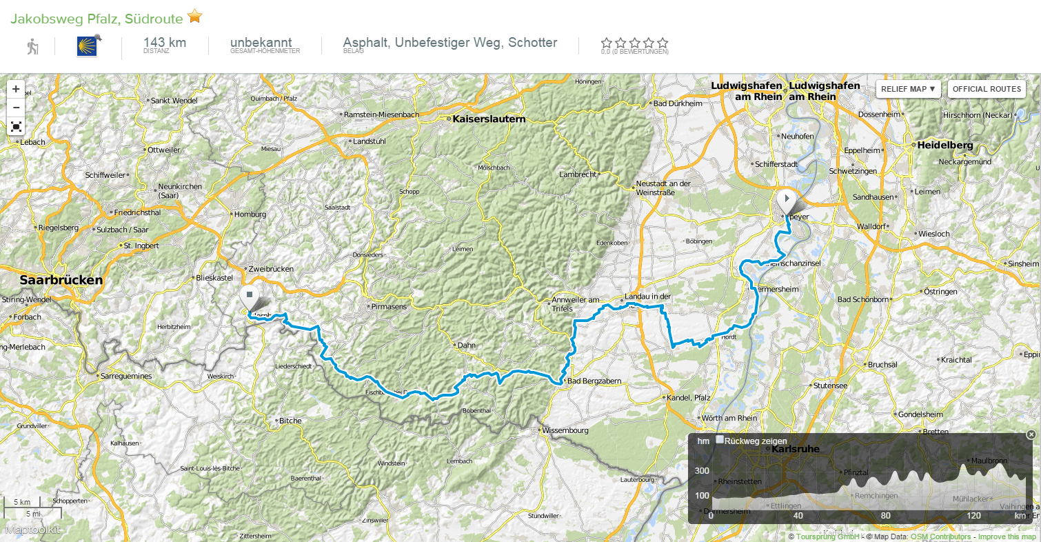 Pilgerweg Pfalz