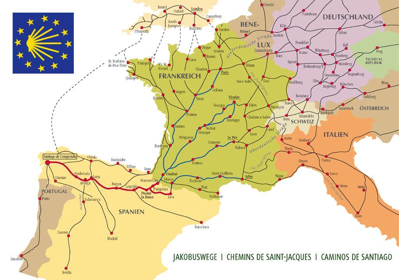 Jakobsweg Pilgerrouten Westeuropa