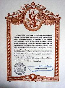 Pilger Urkunde Compostela